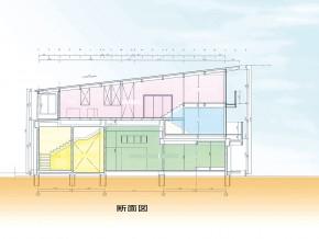 4層がつながる混構造の家